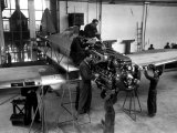 Technicians Building an Caproni Airplane Photographic Print by A. Villani