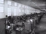 Ferrari Factory, Workers and Machines Photographic Print by A. Villani