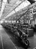 Some Newly Finished Mopeds in the Factory of the Moto-Benelli Firm in Pesaro Photographic Print by A. Villani