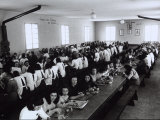 Workers at the Timo Company During Lunch at the Cafeteria Photographic Print by A. Villani