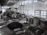Inside of a Ferrari Factory with Some Workers Photographic Print by A. Villani