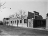 Outside View of the Factory of the Moto-Benelli Firm in Pesaro, Producer of Mopeds Photographic Print by A. Villani
