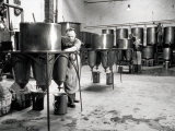 Workers Busy in a Brewery Photographic Print by A. Villani