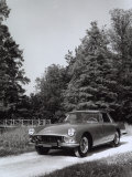 Frontal View of a Ferrari-Pininfarina Automobile Parked on a Street in a Park Photographic Print by A. Villani