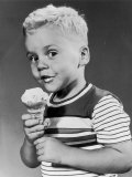 Boy Eating an Icecream Photographic Print by A. Villani