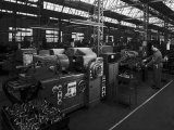 Some Machines in the Factory of the Moto-Benelli Firm in Pesaro, Producer of Mopeds Photographic Print by A. Villani