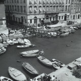 The Canal in Trieste and a Stage in the Removal of Bajley Bridge Photographic Print by Marion Wulz