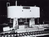 Machinery Used for Bottling Moretti Beer at the Guerzoni Company of Bologna Photographic Print by A. Villani