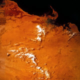 Image of Earth from a Satellite Photographic Print by A. Villani