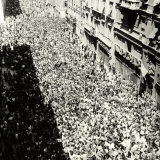 Trieste, Great Manifestation at the End of Tito's 40 Day Yugoslavian Occupation Photographic Print by Marion Wulz