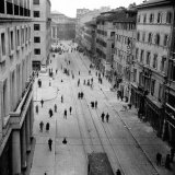 Street in Trieste, Italy, after the Bombardament of October 23rd, 1944 Photographic Print by Marion Wulz