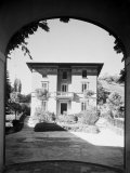 Exerior at Small Villa Built by the Engineer Vittorio Stanzani Photographic Print by A. Villani