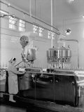 Bottling of Fruit Juices at the SALFA Company in Bologna Photographic Print by A. Villani