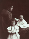 Portrait of Angela Wulz with Her Daughters Wanda and Marion Photographic Print by Carlo Wulz