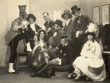 Group Portrait of Actors of the Circolo Artistico in their Stage Costumes Photographic Print by Carlo Wulz