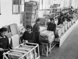 Few Female Workers in the Factory of the Giordani Company, Producer of Baby Carriages and Bicycles Photographic Print by A. Villani