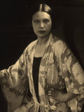 Half-Length Portrait of Wanda Wulz Wearing a Kimono Dressing Gown Photographic Print by Carlo Wulz