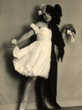 Portrait of the Young Wanda Wulz, Dressed in a Half White, Half Black Costume Photographic Print by Carlo Wulz