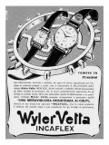 Billboard Advertising Wiler Vetta Watches Giclee Print by A. Villani