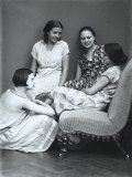 Wanda and Marion Wulz with Two Friends Photographic Print by Carlo Wulz