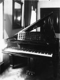 Detail of a Steinway and Sons Piano in a Room Photographic Print by Carlo Wulz