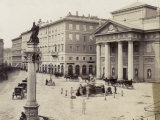 Piazza Della Borsa, in Trieste, Italy, with the Palazzo Della Borsa Vecchia Photographic Print by Giuseppe Wulz