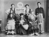 Folkloristic Istrian Group in Original Costumes During a Dance Photographic Print by Carlo Wulz
