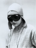 Portrait of Wanda Wulz in Motorcyclist's Gear Photographic Print by Marion Wulz