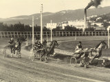 First International Sulky Race 1910 Fall Reunion, at the Montebello Racetrack in Trieste Photographic Print by Carlo Wulz