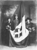 Italian Soldier with Flag and Sponsors Photographic Print by Carlo Wulz