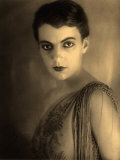 Portrait of a Young Woman with Short Hair and Heavy Make-Up Photographic Print by Carlo Wulz