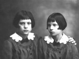Portrait of Wanda and Marion Wulz Photographic Print by Carlo Wulz