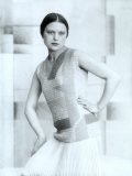 Portrait of Wanda Wulz in Dress Designed by Anita Pittoni Photographic Print by Marion Wulz