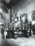 Funeral Catafalque of Archduke Rudolph of Ausburg in the Church of S. Giusto, Trieste Photographic Print by Carlo Wulz