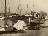 Boats Moored at the Harbor in Trieste Photographic Print by Carlo Wulz