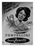Billboard Advertising Zanetti Tortellini, Produced by the Dante Zanetti Company, Bologna Giclee Print by A. Villani