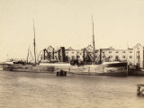The Ship Abbazia Moored at the Austrian Lloyd Arsenal Photographic Print by Giuseppe Wulz