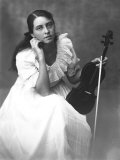 Portrait of a Young Woman with Cello Photographic Print by Carlo Wulz