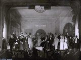 Actors Portrayed on Stage after a Performance of L'Immenso by Fedoro Tizzani Photographic Print by Carlo Wulz