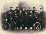 Group Portrait of Cyclists Photographic Print by Giuseppe Wulz