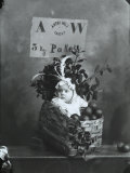 The Small Wanda, Posing with a Fruit Basket for an Advertisement Photographic Print by Carlo Wulz
