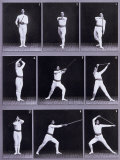 Jager Exercises, a Succession of Physical Exercises Using a Staff Photographic Print by Carlo Wulz