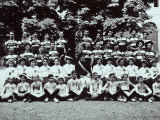 Athletes of the Ginnastica Triestina in a Garden, Wearing the Medals They Were Awarded Photographic Print by Carlo Wulz