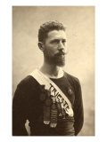 Portrait of a Young Athlete of Trieste's Track and Field Team, Awarded with Five Medals Giclee Print by Carlo Wulz