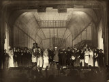 Group of Actors of the Play L'Immenso Pictured on the Stage Photographic Print by Carlo Wulz