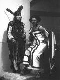 Portrait of Marion Wulz in a Suaheli Di Zanzibar Carnival Costume Photographic Print by Carlo Wulz