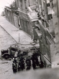 People Observing a German Truck Burnt Out, Soldier, Corso Italia, Trieste, Italy Photographic Print by Marion Wulz