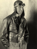 Portrait of a Motorcyclist Wearing a Leather Jacket and Helmet Photographic Print by Carlo Wulz