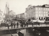 Ponte Rosso on the Canale Grande, in Trieste, Italy Photographic Print by Giuseppe Wulz