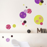Flowers &amp; Circles Wall Decal